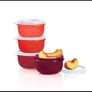 Tupperware Ideal lit'l bowls with lids 4 P…